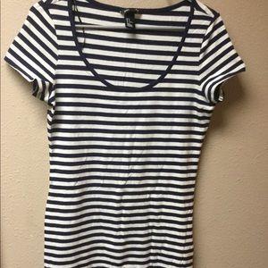 Basic H&M Striped Navy Blue Dress -3/$18